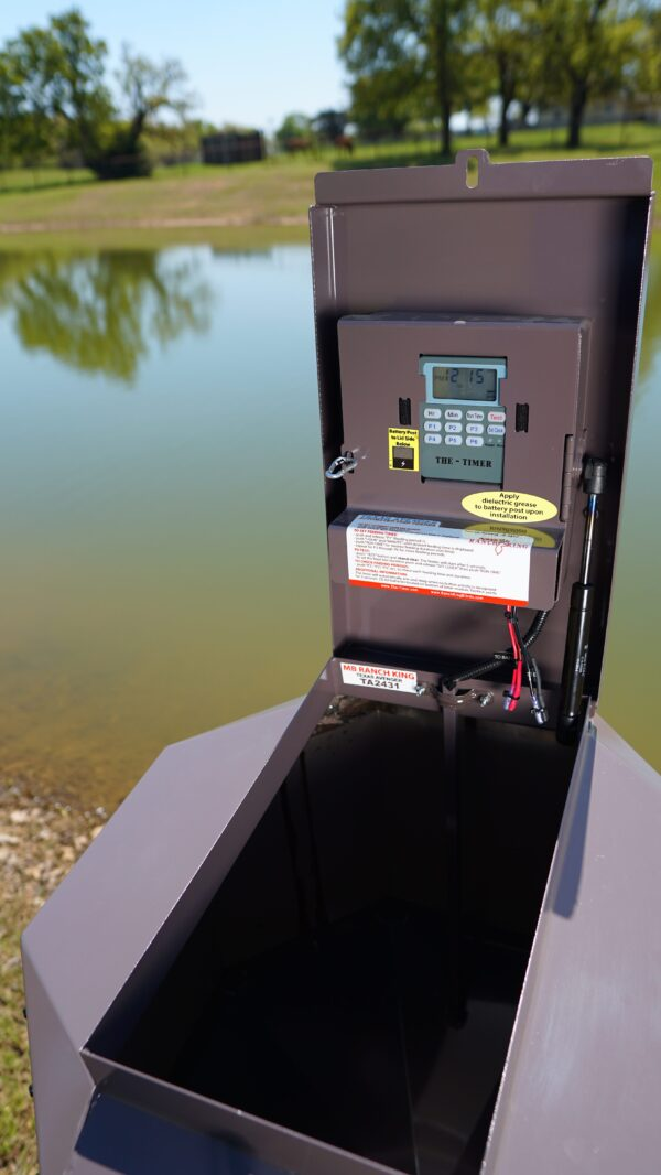 Texas Avenger Automated Fish Feeder Buck Stop Hunting Store